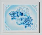 Blue Sugar Skull by J. Montalvo