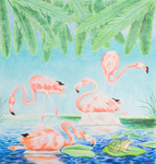 (Flamingos) by Michael Griego