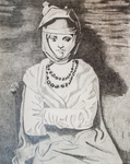 Woman with Turban (Copy) by Martin Rene Rodriguez