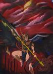 Archangel Michael Slaying Satan by Antonio Madrid