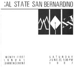 Commencement Program 1987 by CSUSB