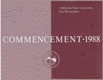 Commencement Program 1988 by CSUSB